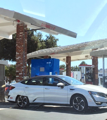 The hydrogen vehicel fueling
